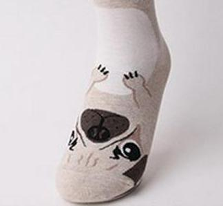 "Comfy ""Wear-A-Dog"" Ankle Socks"