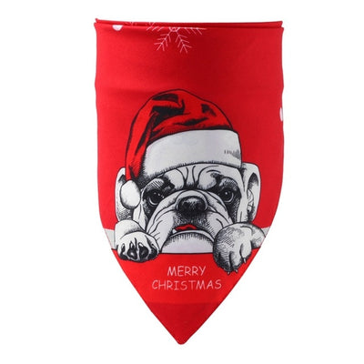 Dog Christmas Collar Scarf