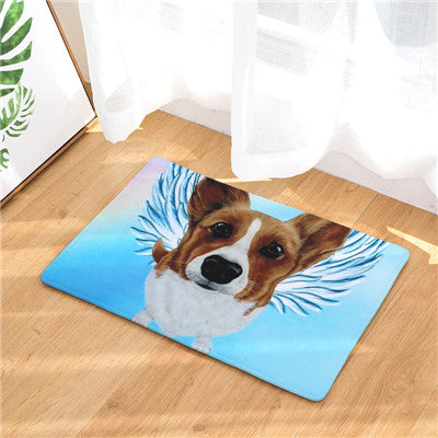 Corgi Angel Dog Door Mat
