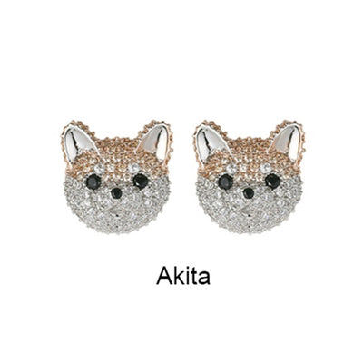 Sparkling Dog Ear Studs