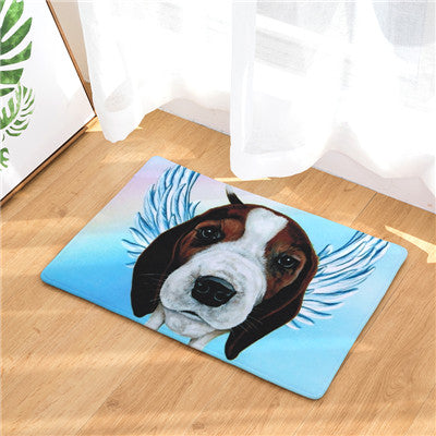Beagle Angel Dog Door Mat