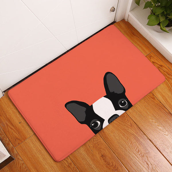 Expectant Pups Door Mat