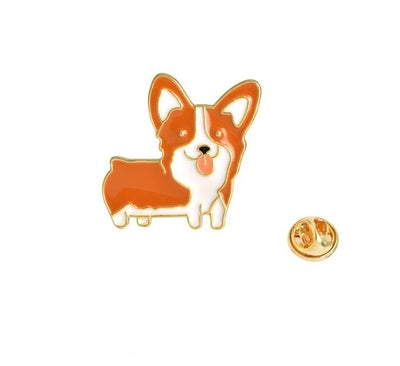 """World's Sweetest Dog"" Brooches"