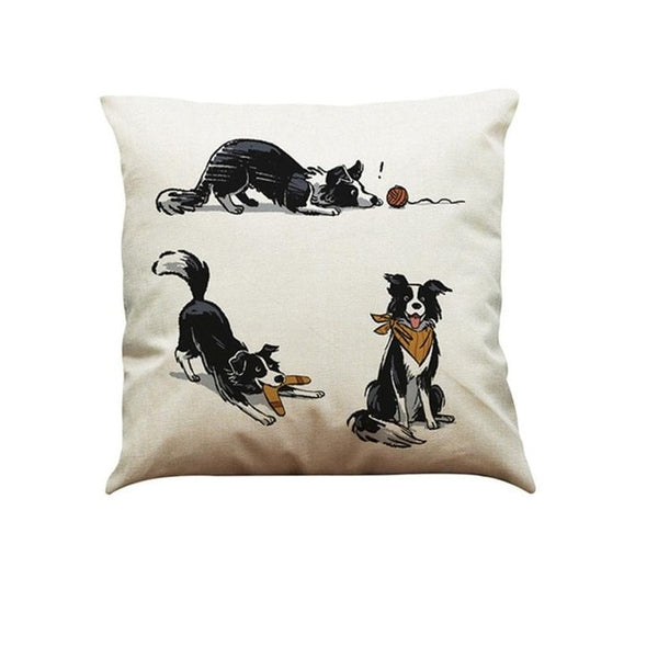 Border Collie Vintage Throw Cover