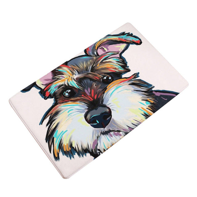 Artful Doggy Schnauzer Non-Slip Welcome Mat