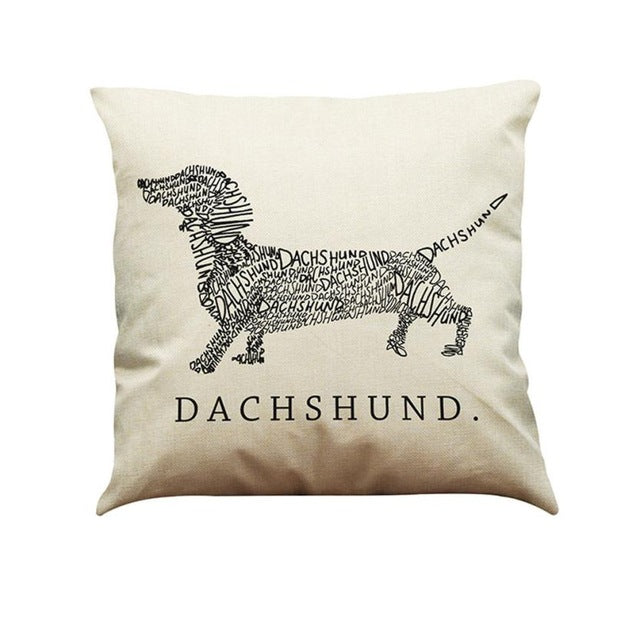 Dachshund Vintage Cotton Throw Cover