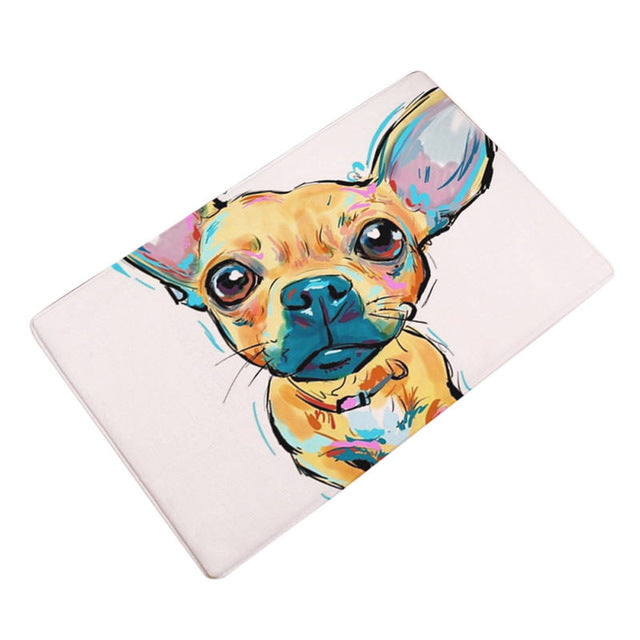 Artful Doggy Chihuahua Non-Slip Welcome Mat