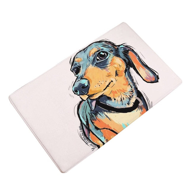Artful Doggy Dachshund Non-Slip Welcome Mat