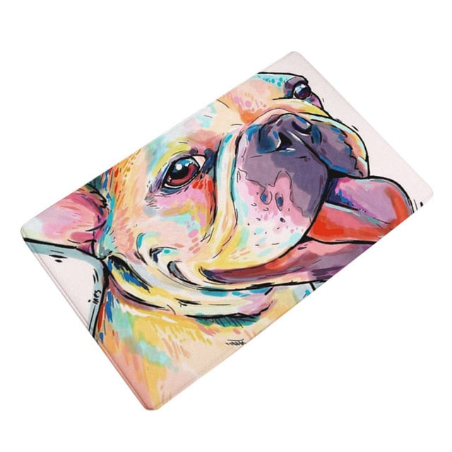 Artful Doggy Bulldog Non-Slip Welcome Mat