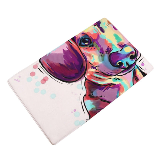 Artful Doggy Beagle Non-Slip Welcome Mat