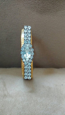 art deco cuff bracelet - one of a kind
