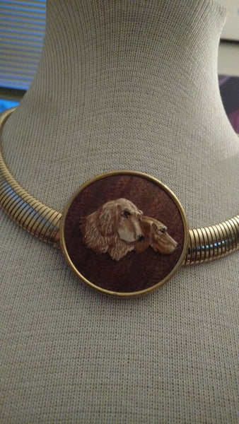 Dogs //Animal lover necklace// dogs// handmade// upcycled// one of a kind// unusual jewelry// Xmas gift // haunnuka gift// tasteful gift
