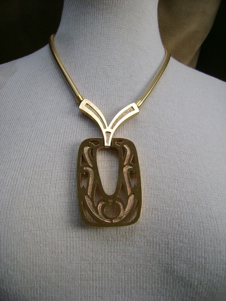 Rare Vintage Monet Gold Necklace 1970s