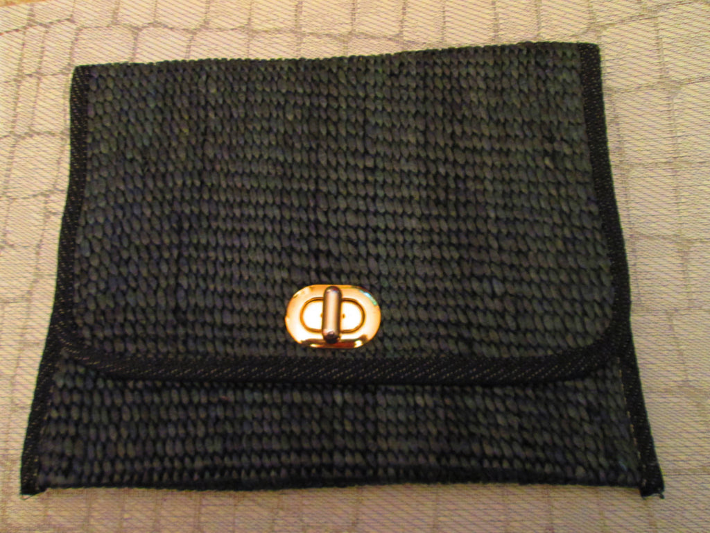 sale // Italia Clutch purse// navy bag//Clutch Purse 1980s // Fashion Bag // Woven // Roomy // Italian // Vintage // Timeless //