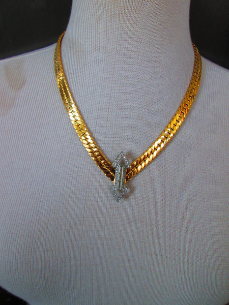 Golden Chain with Deco Accent - One of a Kind