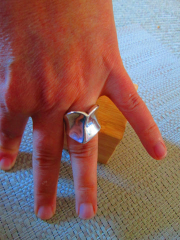 1990 robert lee morris sterling silver heart ring