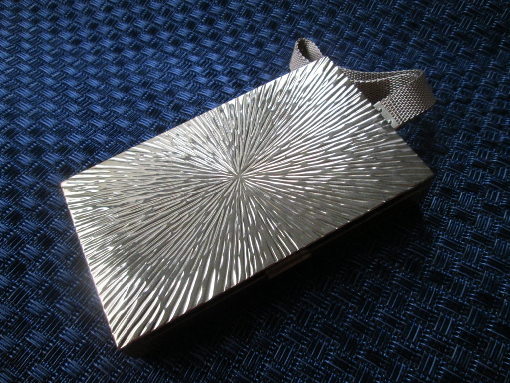 Gold Evans  Compact Clutch Purse // 1950// Glamour // Hollywood Glam// MadMen // Formal // Wedding // Gift for Her // Retro //