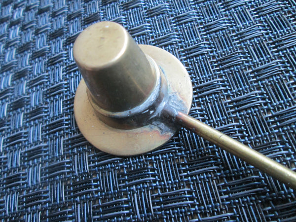 Brass Candle Snuffer // Vintage // Hat// Pilgrim Hat// HandMade // Wedding Gift// Housewarming Gift // Fire Safety// Home Decor
