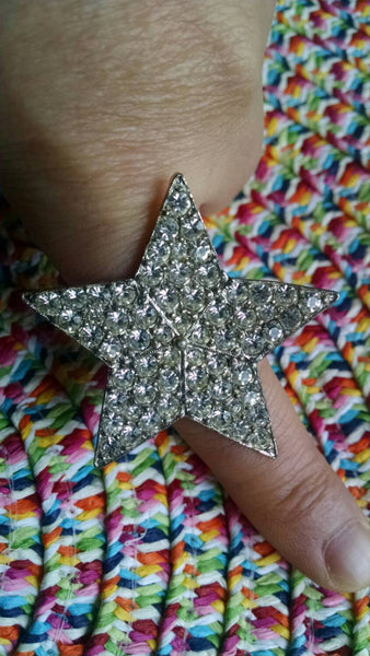 Star ring //rhinestones// eclectic  // Vintage // One of a kind // Rocker Chic // Retro Cool // Summer Jewelry // Cocktail Ring // Gift