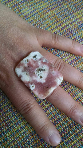 polished rock ring - one of a kind