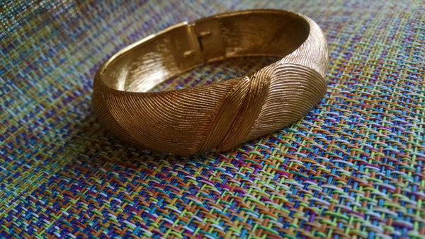 Gold Monet Vintage Bangle // 1970s// Fashion Jewelry // Gift //Clamper// Ladylike // Boho Chic // Hippie Chic // Collect // Uptown