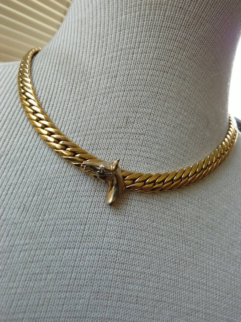 Horse necklace// equestrian // handmade// upcycled necklace// gift for her // preppy chic // animal lover // classic design //gold