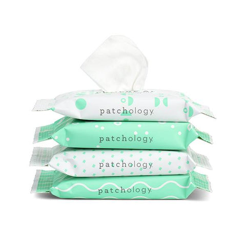 Patchology Clean AF on the go Facial wipes
