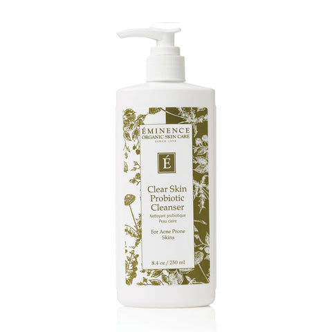 eminence clear skin probiotic cleanser organic skincare antiacne antibacterial acne target