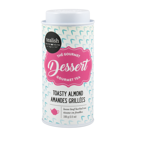 Tealish Toasty Almond - Herbal Dessert Tea Tin