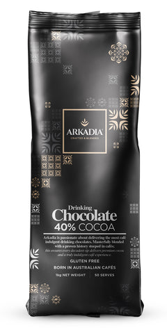 1kg Arkadia Gluten Free Drinking Chocolate (40% Cacao)