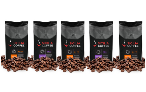 1kg Selection: 5 x 200g Ground Coffee