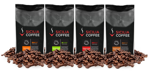 1kg Mild-Medium Sampler: 4 x 250g Coffee Beans