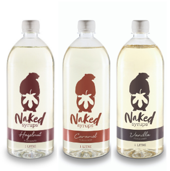3L Naked Syrup Multi Pack 3 x 1L