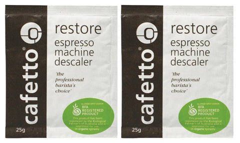 Cafetto Restore Descaler Powder: 2 x 25g