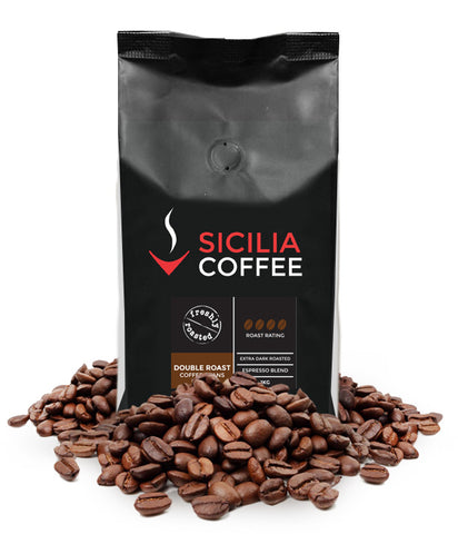 Double roasted strong coffee beans