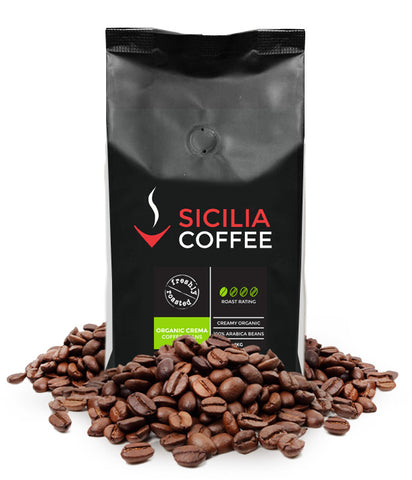 Fair-trade and certified organic arabica coffee beans