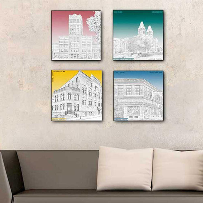 Latitude Longitude Buffalo NY wall art