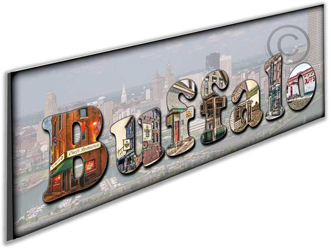 The Buffalo 4 and Buffalo Lettering, Photography Images of Buffalo NY