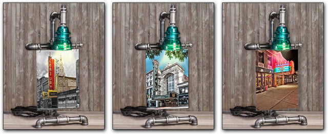 Steampunk Buffalo NY Table Lamps