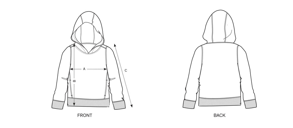 Hoodie measurement guide