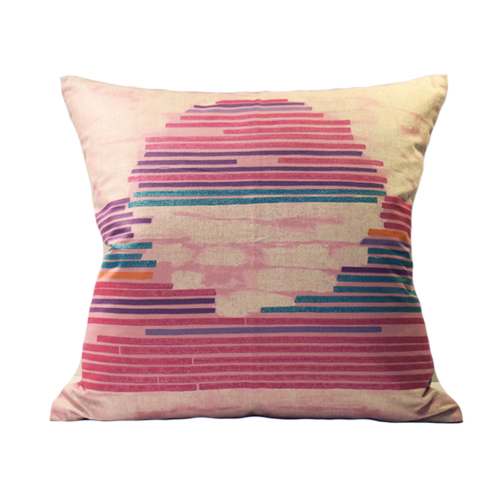Sunset Stripe - 50cm Square Cushion