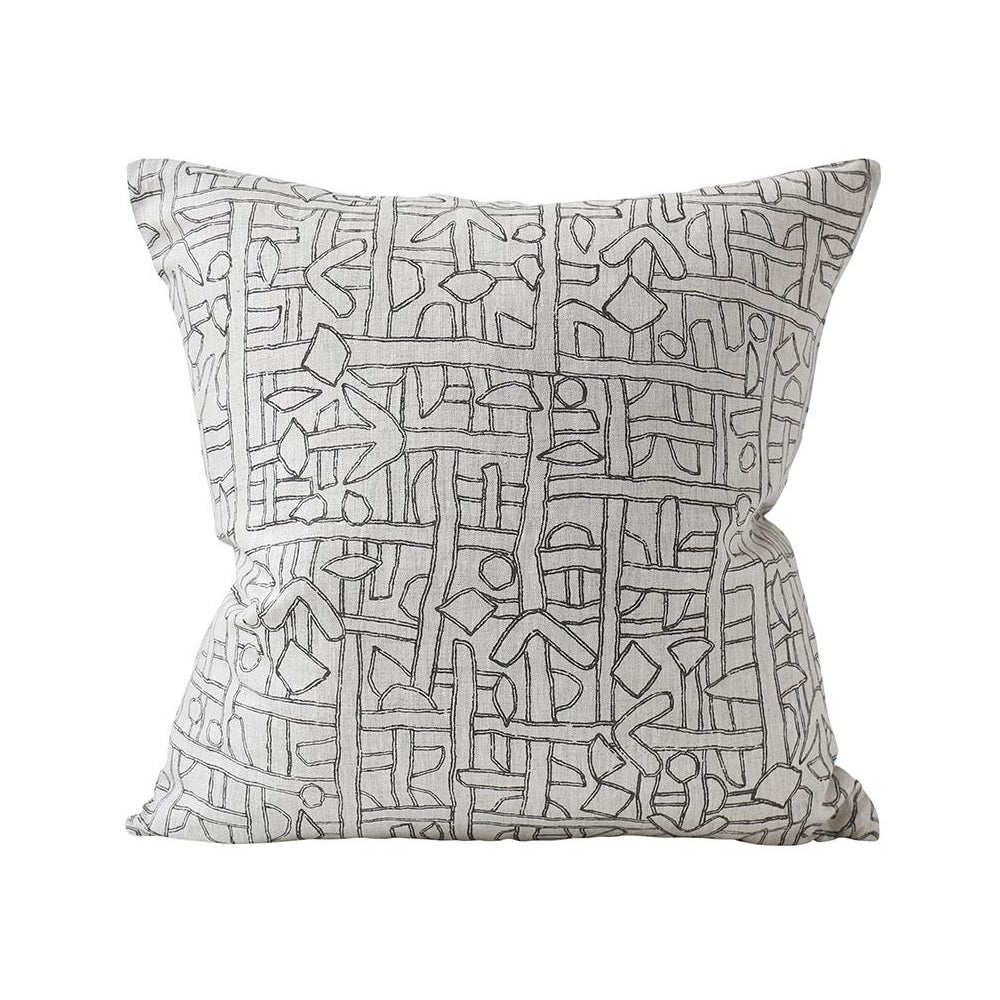 Walter G Zaire Indian Dark Mud - 55cm Square Cushion