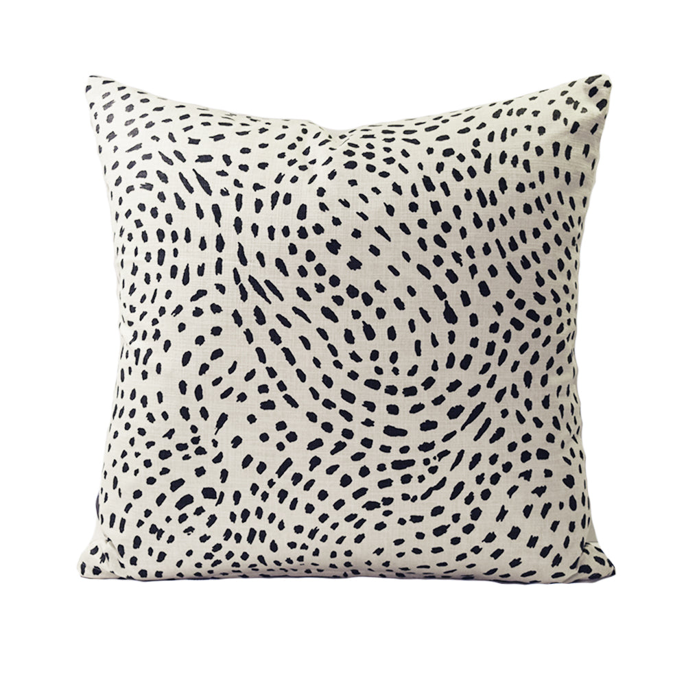 Black Speck - 50cm Square Cushion