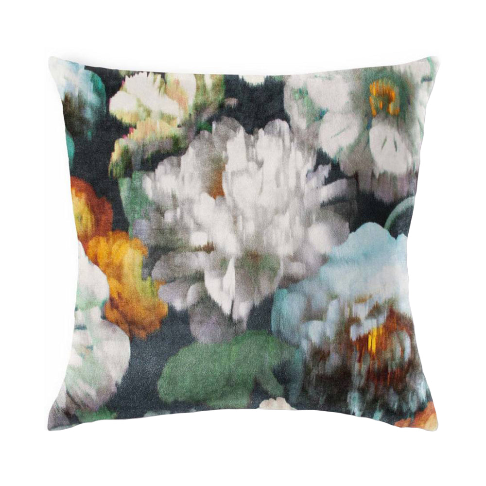 Black Edition Peacock Herbaria - 50cm Square Cushion