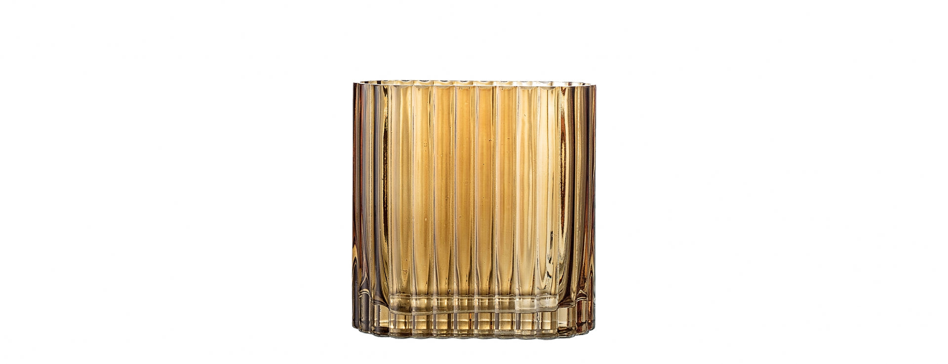 Bloomingville Vase - Glass - Brown - Small