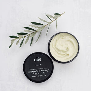 Olieve & Olie Body Butter - Bergamot, Clary Sage and Geranium - 250ml