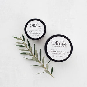 Olieve & Olie Body Butter - Lavender, Rose Geranium and Sweet Orange - 250ml