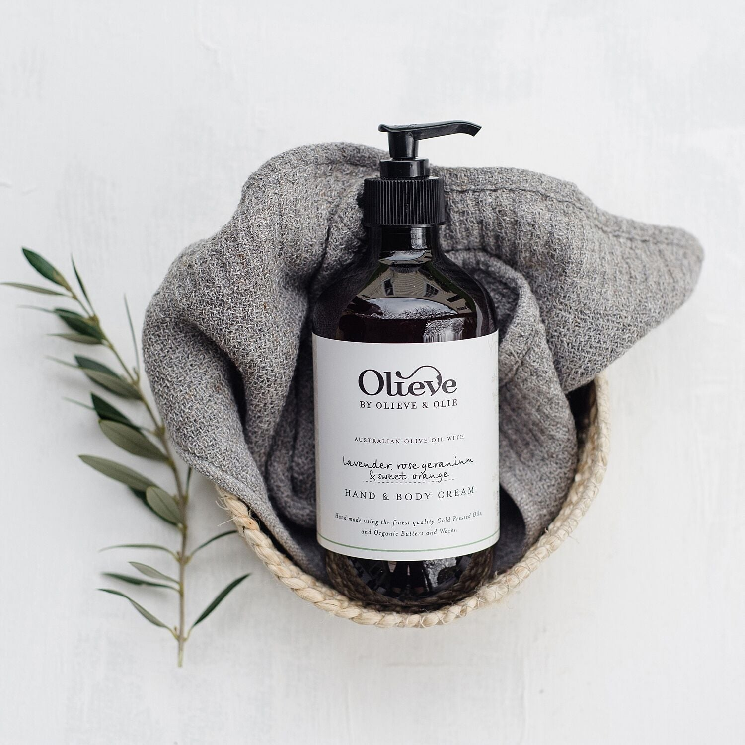 Olieve & Olie Hand and Body Cream - Lavender, Rose Geranium & Sweet Orange - 500ml