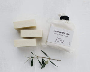 Olieve & Olie Handmade Soap - Fragrance Fee Olive Oil and Goats Milk