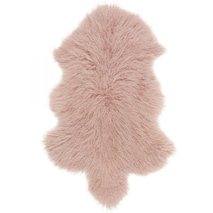 Mongolian Sheepskin Throw - Rose